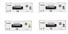 Canon 118 2662B001AA Black, 2661B001AA Cyan, 2660B001AA Magenta, 2659B001AA Yellow CRG718, CRG318 Genuine Toner Cartridge