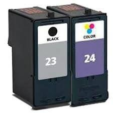 Lexmark 23 18C1523 Black 24 18C1824 Tri-Color Compatible Inkjet Cartridge
