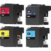 Brother LC10eBK Black LC10eC Cyan LC10eM Magenta LC10eY Yellow LC10eXXL Compatible Inkjet Cartridge