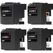Brother LC20eBK Black LC20eC Cyan LC20eM Magenta LC20eY Yellow LC20eXXL Compatible Inkjet Cartridge