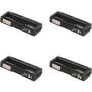 Ricoh 406475 Black 406476 Cyan 406477 Magenta 406478 Yellow SPC310HA Compatible Toner Cartridge
