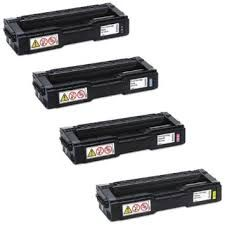 Ricoh 407653 Black 407654 Cyan 407655 Magenta 407656 Yellow Compatible Toner Cartridge