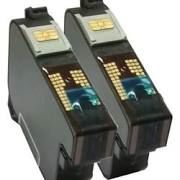 FrancoTyp-Postalia 58.0052.3028.00 PIC40 Compatible Flourescent Red Ink Cartridge - 2 Pack