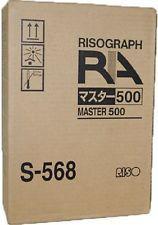 Risograph S568 S568LA Genuine Thermal Master 500LA Rolls - 2 Pack