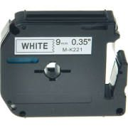 Brother MK221 Compatible RL-BR Black on White 9MMX8M Label Tape