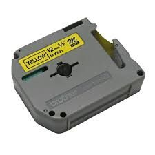 Brother MK631 Compatible RL-BR Black on Yellow 12MMX8M Label Tape
