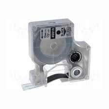 """Dymo 45010 Compatible Black on Clear 1/2"""" x 23' 12mm x 7m P-Touch Tape Label Tape"""