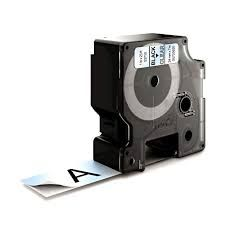 """Dymo 53710 Compatible Black on Clear 1"""" x 23' 24mm x 7m P-Touch Tape Label"""