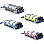 HP Q5950A (643A) Black, Q5951A Cyan, Q5952A Yellow, Q5953A Magenta Compatible Toner Cartridge