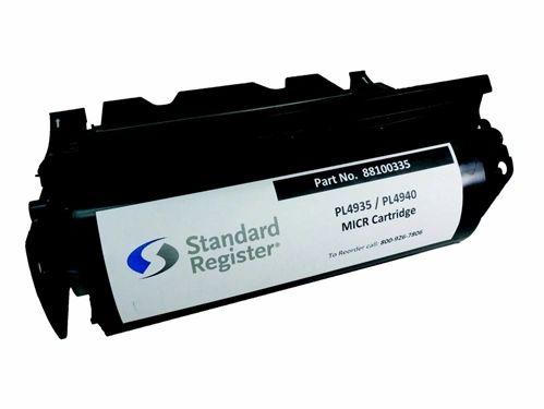 Standard Register 88100335 Compatible Micr Toner Cartridge for Standard Register PL4935, PL4940.