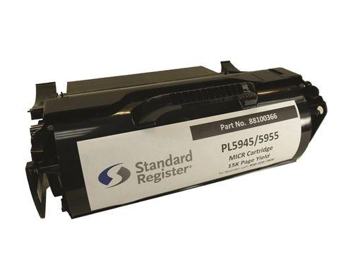 Standard Register 88100366 Compatible Micr Toner Cartridge for Standard Register PL5945, PL5955