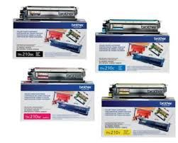 Brother TN210BK Black TN210C Cyan TN210M Magenta TN210Y Yellow OEM Toner Cartridge. Brother DR210CL BK,C,M,Y OEM Drum Unit
