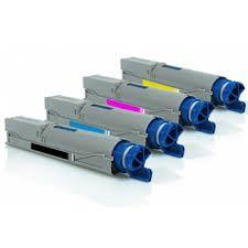 Okidata 43459304 Black 43459303 Cyan 43459302 Magenta 43459301 Yellow Compatible Laser Toner Cartridge. Okidata 43460204 Black 43460203 Cyan 43460202 Magenta 43460201 Yellow Compatible Drum Unit.