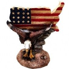 Eagle w/ US Map Figurine