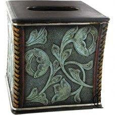 Turquoise Tooled Tissue Box