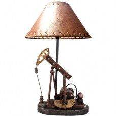Oil Derrick Lamp w/ Shade