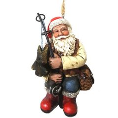 Fishing Santa Ornament