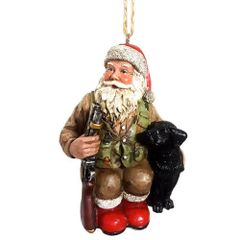 Hunting Santa Ornament