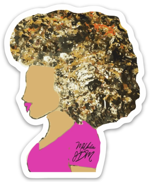 """Big Hair Don't Care"" Slap (Sticker)"