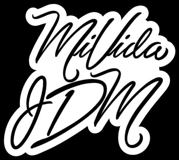 MiVida JDM Script Logo Slap (Sticker)