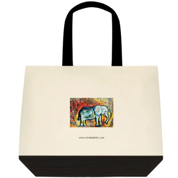 "TOTE: ""MISTER ELEFANTE"" ART TOTE LIMITED EDITION"