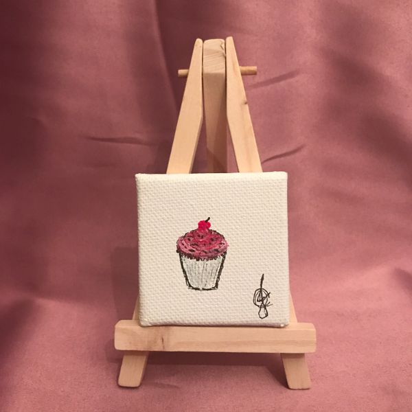 """Cherry on Top"" Limited Edition 1 of 1 *Comes with Easel + Gift Wrap* FREE SHIP"