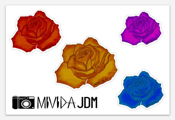 Rose Slap Pack Sheet Multicolor