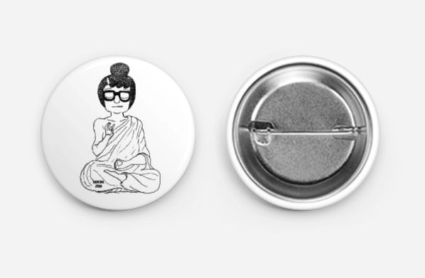 "Exclusive Button ""MediTina"" for collectors"