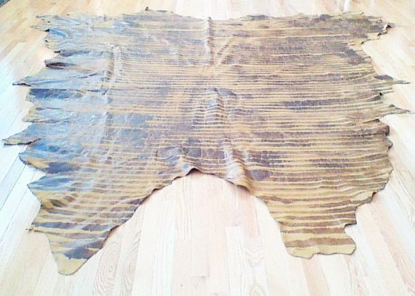 Brown Haze Leather 50.3 Sq.ft Hide (Brwn Hz/Choc)