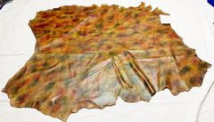 Multi-Color Leather Hide 3.0 oz -Cowhide 35.5 sq.ft with Branding