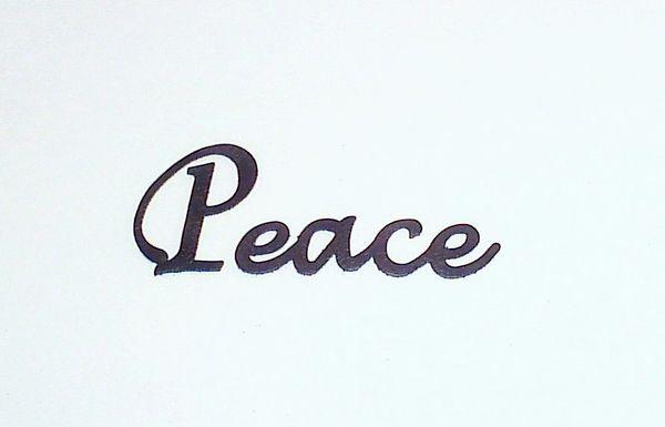 Peace Script - Large