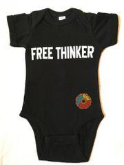 FREE THINKER onesie