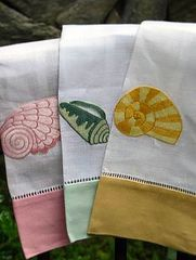 Embroidered Linens: Towels, Shell Tip