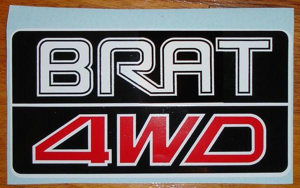 Gen 2 Subaru BRAT 4WD Decal 1981-1993