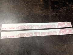 Subaru Full Time 4WD Turbo RX Decals
