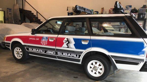 1984-1994 Subaru Loyale Wagon US Ski Team Graphics