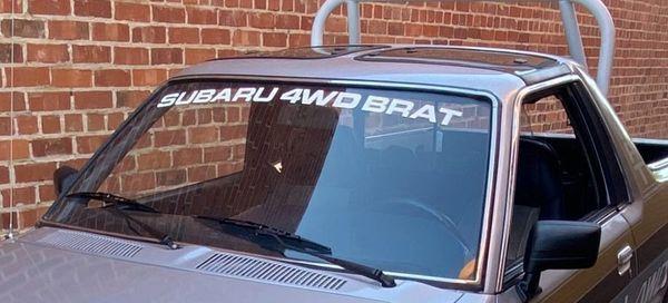 SUBARU 4WD BRAT Windshield banner