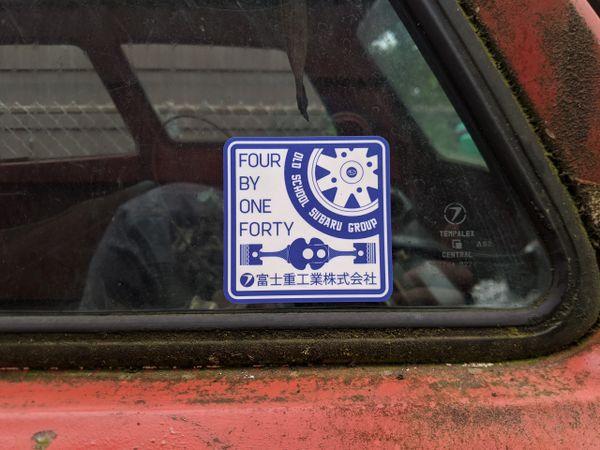 "Old School Subaru Group Decal 3"" x 3"""