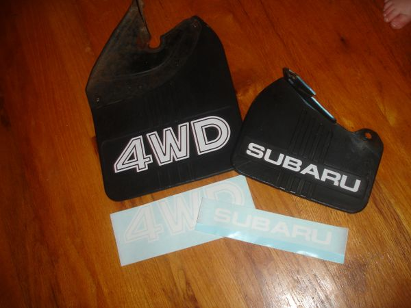 First Generation Subaru Mudflap decals GL DL