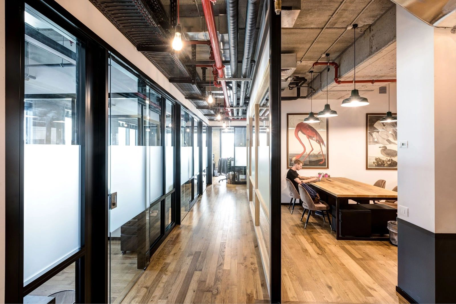 industrial Private office in coworking space for small business