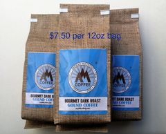 36oz Gourmet Dark Roast Ground Coffee - 3 12oz bags