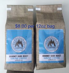 24 oz Gourmet Dark Roast Ground Coffee - 2 12oz bags