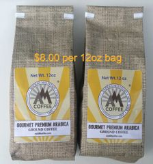 24oz Gourmet Premium Arabica Ground Coffee - 2 12 oz bags