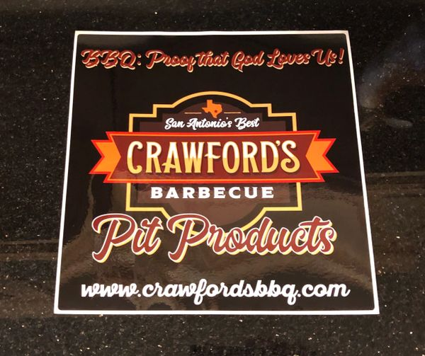 "Large ""Crawford's BBQ"" Sticker"