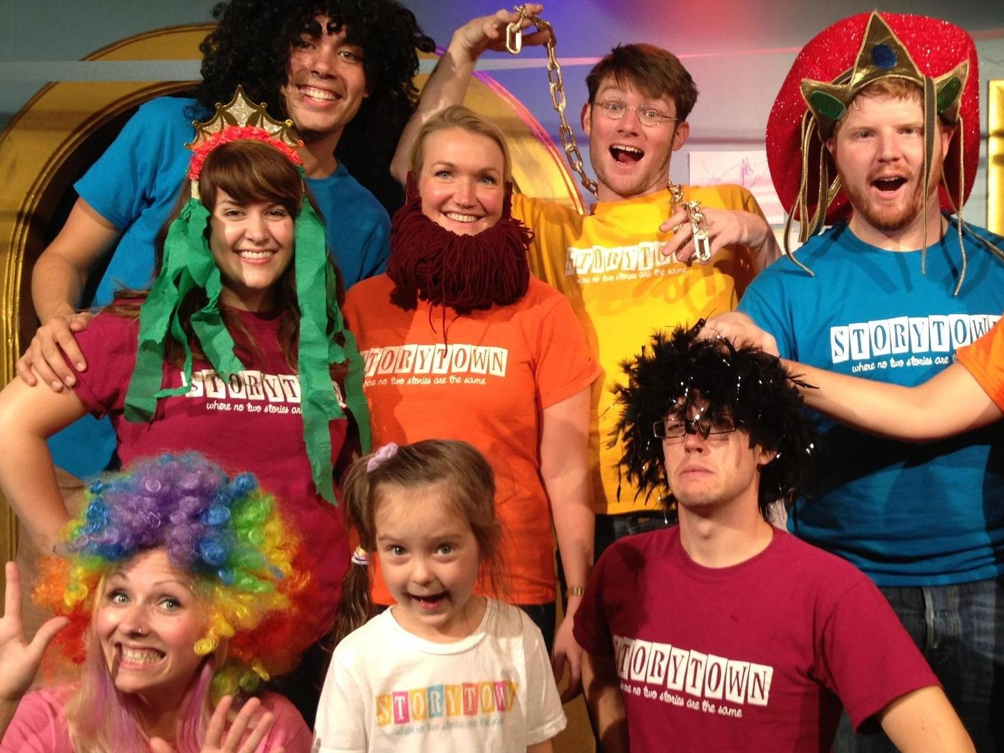 Storytown Improv performing improvised children's musical theater comedy