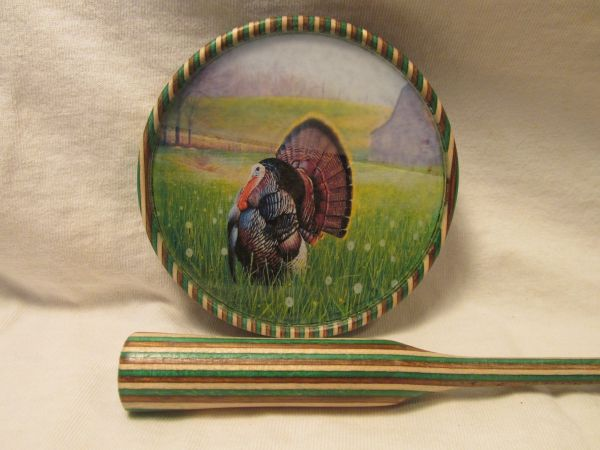 TURKEY LAMINATED PICTURE GLASS POT CALL