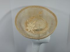 Ivory Sinamay Saucer Hat