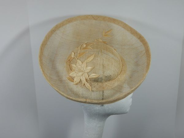 Ivory Sinamay Saucer Hat