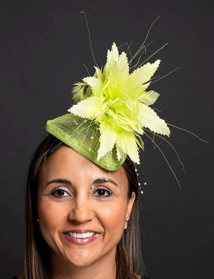 Lime Green Fascinator for the Kentucky Derby or Special Occasion