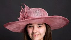 Mauve Sinamay Picture Hat for Derby, Church or Special Occasion